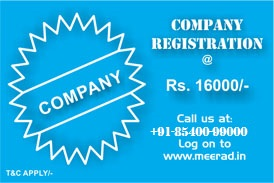 Cheapest company registration in Patna, Bihar, Jharkhand, India | www.meerad.in |