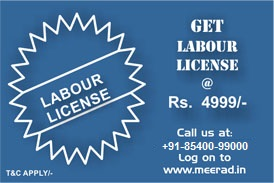 Labour license at Rs. 4999/- only. Visit www.meerad.in for more information