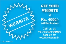 Get complete website at Rs. 4000 | All inclusive| Visit www.meerad.in for more information.