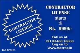 Contractor license at Rs. 5999 only.